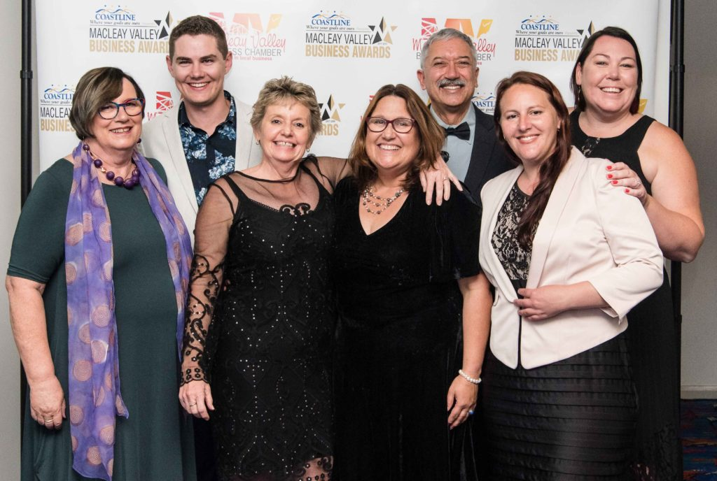 2019 MVBA Awards Committee (left to right): Liz McPherson, Lachland Townsend, Jenny Thorman, Tania Powick, Gary Scott, Lisa McPherson, Natalie Walsh.