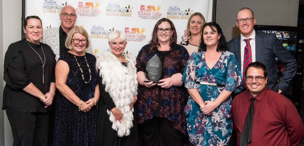 Employer of Choice Award: Sponsor: Amanda McDonnell - Coastline Credit Union, Recipient: Craig Milburn, Marilyn Breen, Liz Campbell, Michelle Dosk, Gayleen Burley, Renee Albert, Stephen Mitchell, Daniel Micallef - Kempsey Shire Council