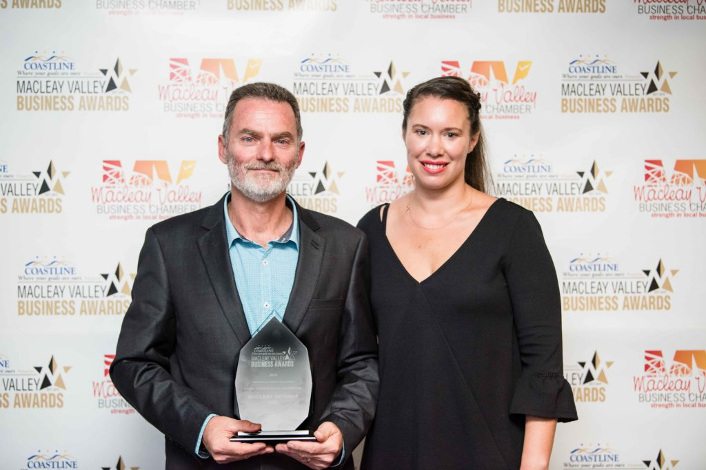 Excellence in Social Enterprise Award: Sponsor: Biana Hopper - Kempsey Macleay RSL Club, Recipient: Michael Millicevic - Macleay Options Inc