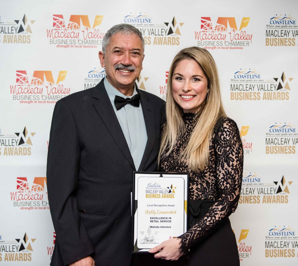 Highly Commended in Retail Services:  Gary Scott - Macleay Valley Business Chamber. Recipient: Shonel Everson - Mahalo Interiors