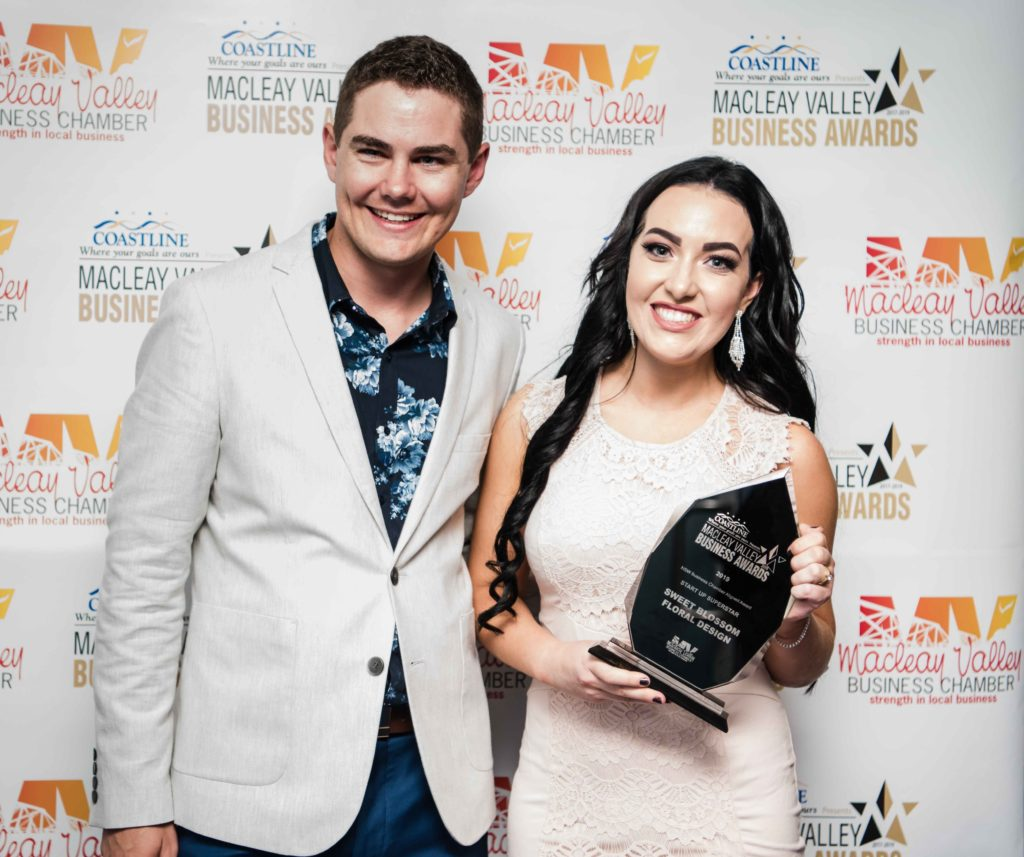 Start Up Super Star Award: Sponsor: Lachy Townsend- Coastline Credit Union, Recipient: Caity Ashton - Sweet Blosson Floral Design