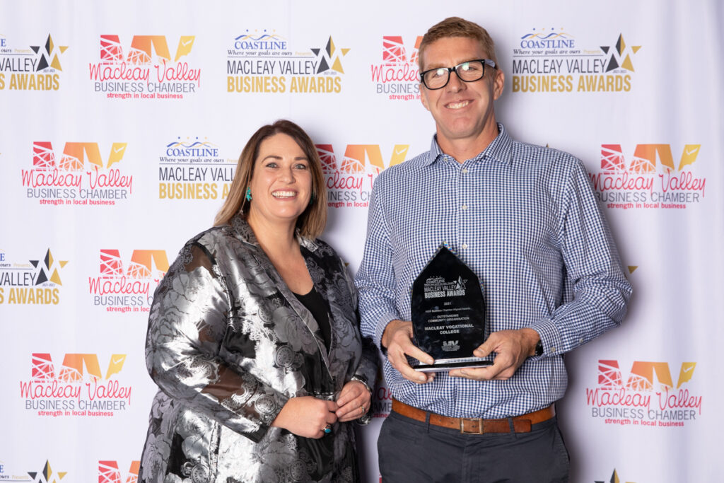 OUTSTANDING COMMUNITY ORGANISATION: Macleay Vocational College. Award Presented by: Marika Crilley, Coastline Credit Union